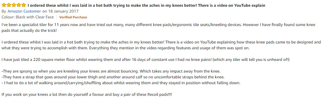 Recoil Knee Pads Amazon Review